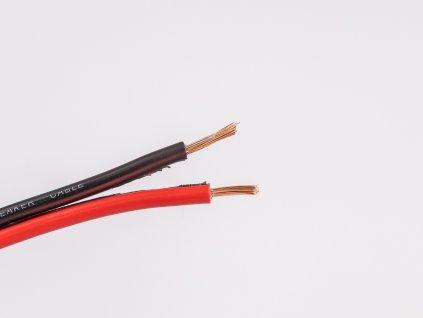 Dvojlinka reprokábel 2x0,5 čierna/červená žily