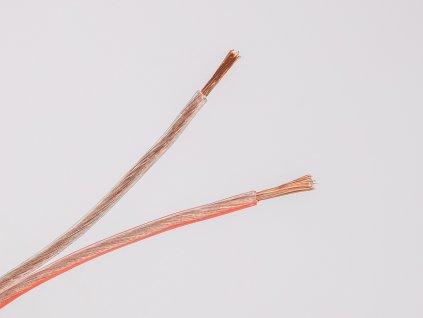 Dvojlinka reprokábel 2x0,5 transparentná žily