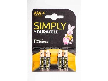 Batéria AAA 1,5V alkalická LR03 DURACELL