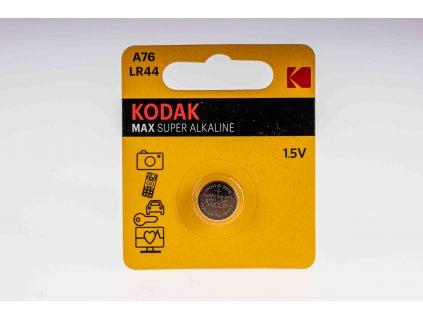 Batéria 1,5V A76 LR44 gombíková alkalická KODAK max super