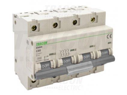 Výkonový istič 4P C80A 10kA EVOH480