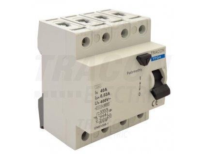Prúdový chránič 4P 16A 100mA 6kA A/AC TFG4-16100