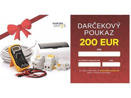 EA darkovy poukaz vanoce 200E nahled