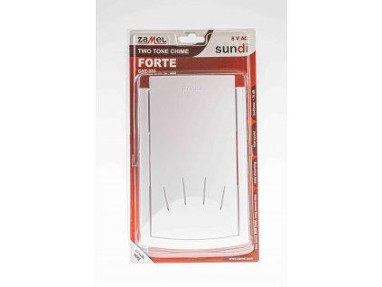 Zvonček 8V 2-tónový biely Forte GNT-223
