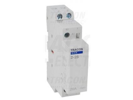 Modulárny stykač 1modul 2P 25A 230V 2xNO 230V AC SHK2-25