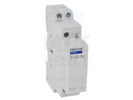 Modulárny stykač 1modul 2P 25A 230V 2xNO 24V AC SHK2-25-24
