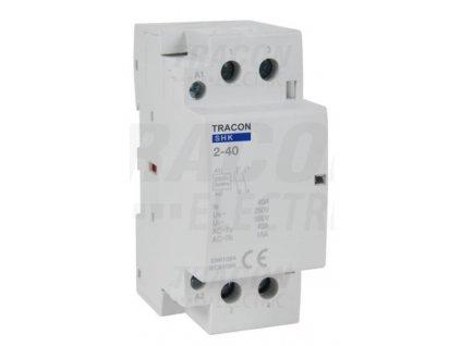 Modulárny stykač 2modul 2P 40A 230V 2xNO 230V AC SHK2-40