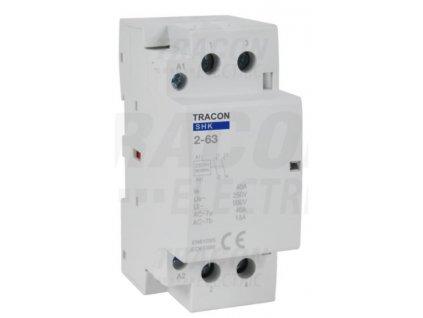 Modulárny stykač 2modul 2P 63A 230V 2xNO 230V AC SHK2-63