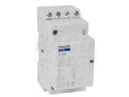 Modulárny stykač 2modul 3P/4P 25A 230V 3xNO 230V AC SHK3-25