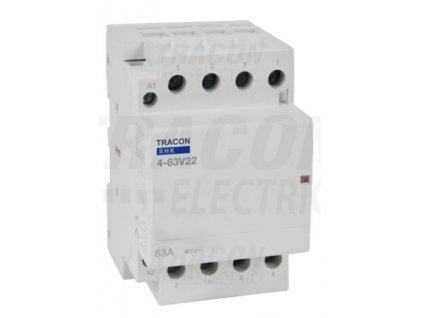 Modulárny stykač 3modul 3P/4P 63A 230V 2xNO+2xNC 230V AC SHK4-63V22
