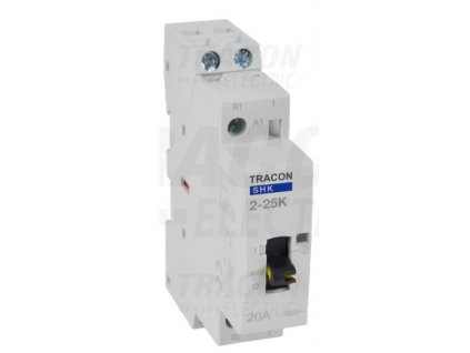 Modulárny stykač s ovládacou páčkou 1modul 2P 25A 230V 2xNO 230V AC SHK2-25K