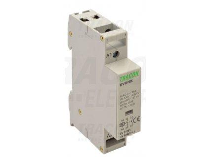 Modulárny stykač 1modul 2P 25A 230V 2xNO 230V AC EVOHK2-25