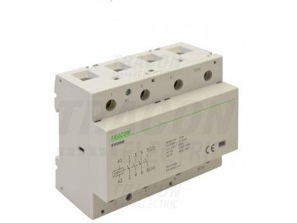 Modulárny stykač 4modul 4P 100A 230V 4xNO 230V AC EVOHK4-100