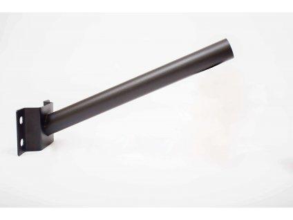 Výložník 50cm ø50mm do muriva/steny čierny PL1619