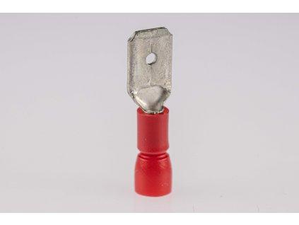 Káblový kolík medený 1,5mm2 lisovací izolovaný červený PCS6