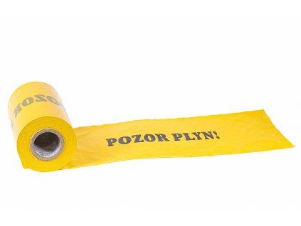 Žltá výstražná fólia POZOR PLYN 300mm