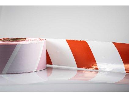 Červeno-biela výstražná fólia šírka 85mm