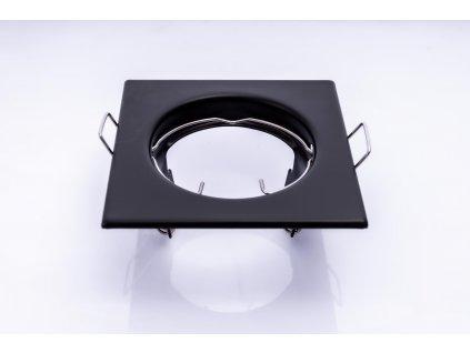 Bodové svietidlo štvorcové pevné čierne PL1696 spredu