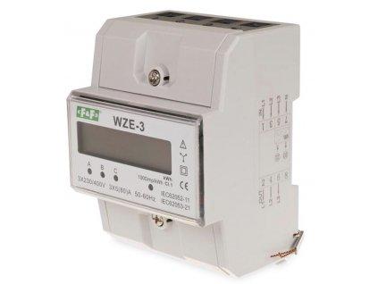 3-fázový digitálny elektromer 3x230/400V 80A WZE-3