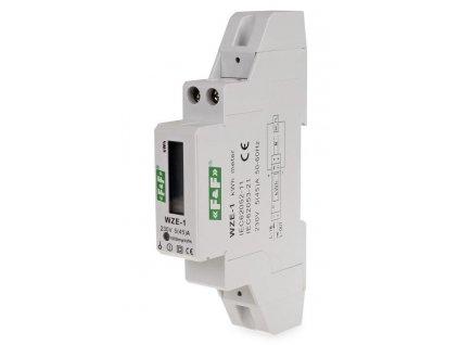 1-fázový digitálny elektromer 230 V AC 45 A WZE-1