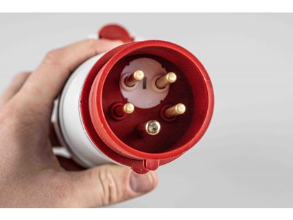 Reverzačná vidlica(adaptér) 16A/400V/5P IVNO 1653 na kábel detail