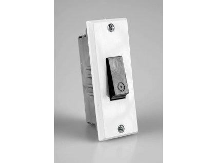 Zvonček č.1/0 biely do zárubne 3555-80428 ABB