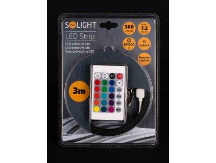 Svetelný LED pás RGB 3m 7,2W/m s ovládačom WM55