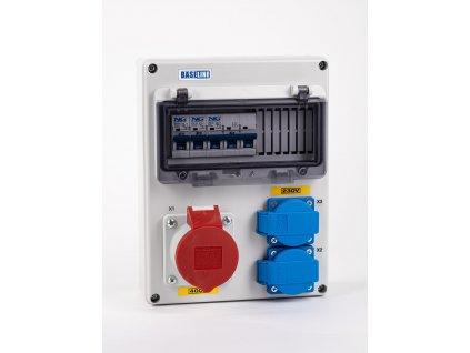 Rozvodnica zásuvková istená 5P 1x16A + 2x230V NG Elektro