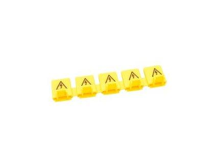Ochranný kryt na kolíky prepojovacej lišty 5x žltý TFSSCOV