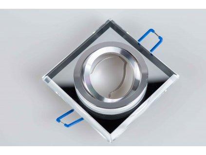 Bodové svietidlo štvorcové výklopné biele sklo PL1948