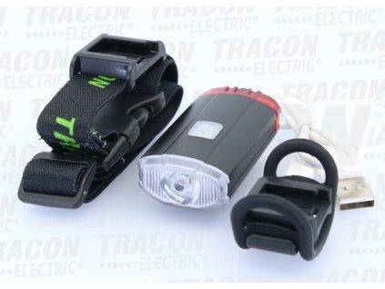 Predné a zadné LED svetlo na bicykel nabíjateľné 2-5h 2W 150lm IP54 sada