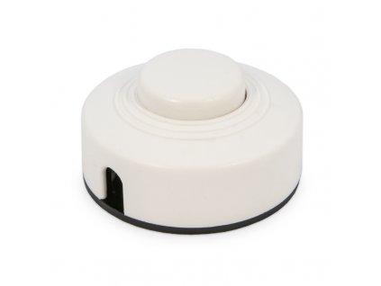 Medzišnúrový podlahový vypínač biely 4.12331 B