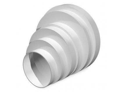 Excentrický vzduchový kruhový prechod k ventilátorom ø80-160mm 316