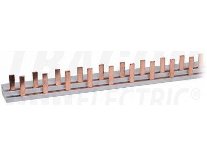 Prepojovacia lišta kolíková 1P+N 56modul 100cm TFSS-1+N