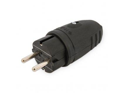 Priama vidlica pologumená IP44 16A/250V čierna 0.442 GTA