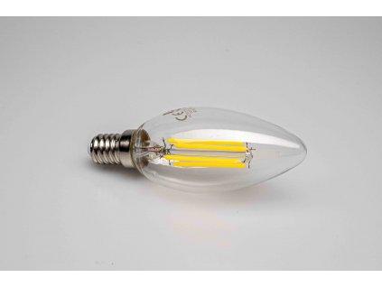 Sviečka dekoračná LED žiarovka E14 4W 4000K filament