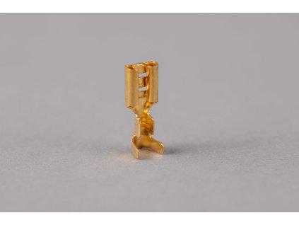 Neizolovaná mosadzná lisovacia dutinka plochá 2,8x0,5mm 0,5-1mm2 CSH3
