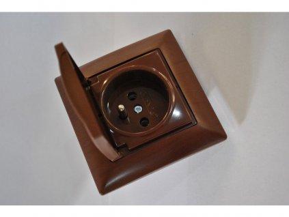 1-zásuvka IP44 Visage Amazon orech 6310