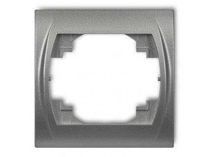 1-rámček vodorovný LOGO metalická strieborná 7LRH-1 5842