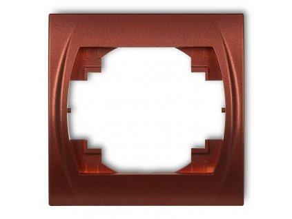 1-rámček LOGO metalická hnedá 9LRH-1 5843