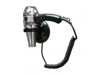 Profesionálny závesný fén na vlasy 1800W do hotelov a zariadení chróm/čierny