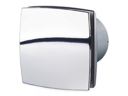 Ventilátor domový 88m3/h VENTS 100LDC chróm guličkové ložisko