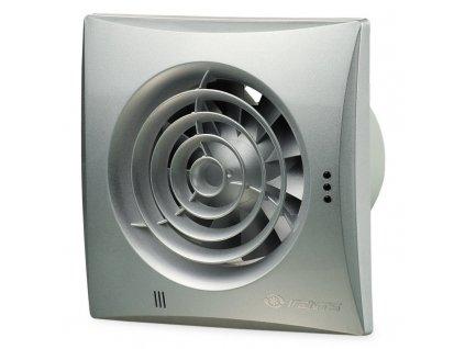 Hliníkový tichý ventilátor domový 97m3/h 100QUIETTAL časový spínač guličkové ložisko