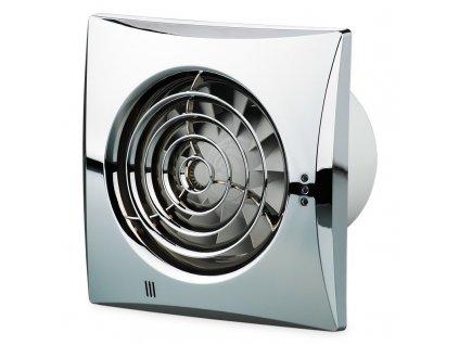 Pochrómovaný tichý ventilátor domový 97m3/h 100QUIETCHROME guličkové ložisko
