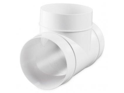 Kruhové plastové T-koleno 90° ø125mm 232