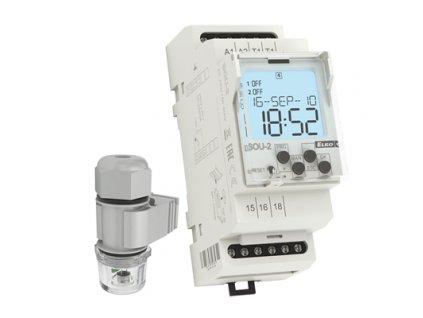 Digitálny súmrakový spínač so senzorom 230V SOU-2