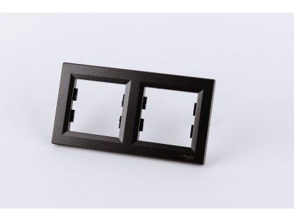 2-rámček Asfora vodorovný antracit EPH5800271