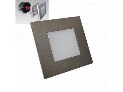 Step LED svietidlo na schody antracit 1W 4000K IP20 48305 Emithor