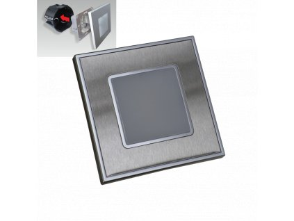 Step LED svietidlo na schody nerez/satén 1W 4000K IP20 48303 Emithor