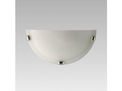 ALABASTER polkruh nástenné svietidlo 150/300mm biela/chróm 1xE27 1412K Prezent